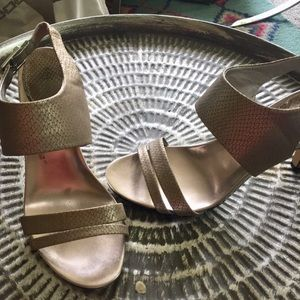 Style and co silver heels Sz 8.5 Good Condition